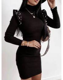 Елегантна рокля по тялото в черно - код 2323