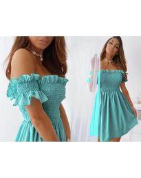 Свободна къса дамска рокля в зелено - код 0310