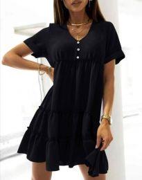 Свободна къса рокля в черно - код 7205