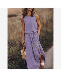 Дълга рокля в лилаво - код 640