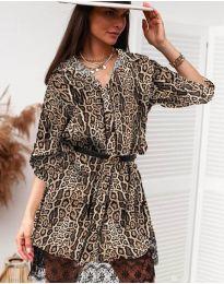Дамска рокля с ефектен десен - код 3635 - 8