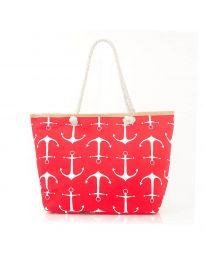 Плажна чанта в червено- код H-9026