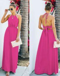 Атрактивна дълга рокля в цвят циклама - код 6121