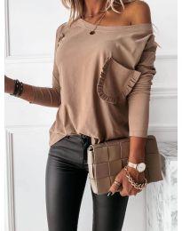 Дамска блуза в цвят капучино - код 0382