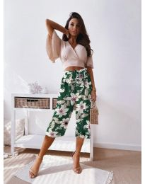 Дамски панталон с атрактивен десен - код 2100 - 3