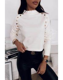 Дамска блуза в бяло - код 2899