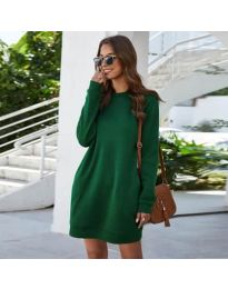 Изчистена рокля в зелено - код 785