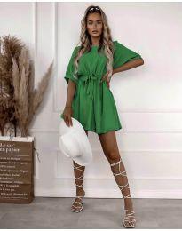 Атрактивна дамска рокля в зелено - код 13131