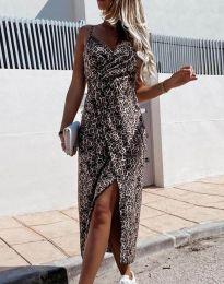 Дамска рокля с ефектен десен - код 9159