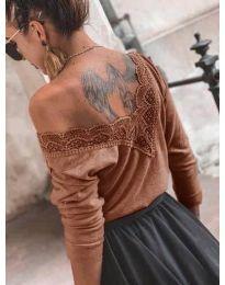 Дамска блуза в кафяво - код 188