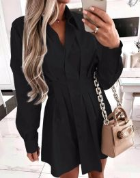 Елегантна дамска рокля в черно - код 8141