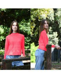 Дамска блуза в цвят корал - код 912