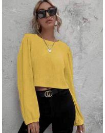 Дамска блуза в жълто - код 5932