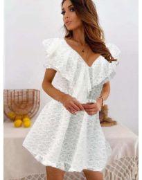 Ефирна рокля в бяло - код 519