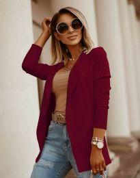 Дамско сако в цвят бордо - код 2365