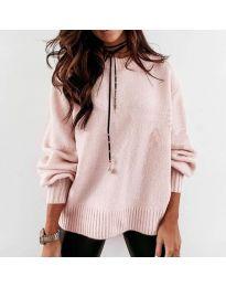 Дамски пуловер в розово - код 3345