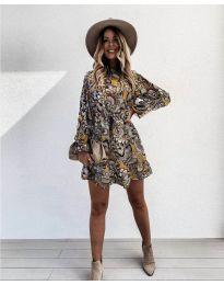 Дамска рокля с атрактивни мотиви - код 248 - 1