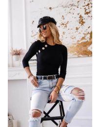 Атрактивна дамска блуза в черно - код 3151