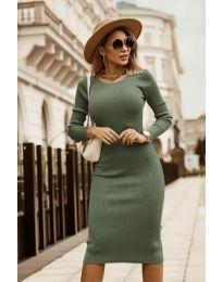 Дамска рокля в зелено - код 8485