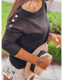 Дамска блуза в черно - код 4417