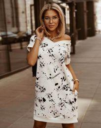 Свободна дамска рокля с атрактивен десен - код 3492 - 3