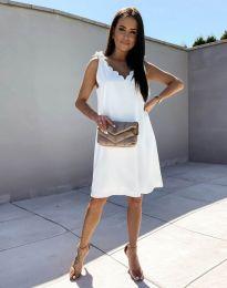 Свободна дамска рокля в бяло - код 2504