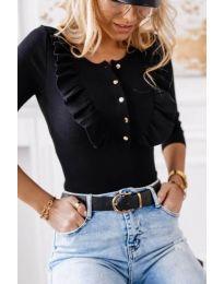 Дамска блуза в черно - код 9792
