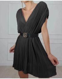 Изчистена рокля в цвят  черно - код 5670