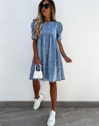 Дамска рокля в синьо - код 0617