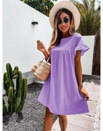 Свободна дамска рокля в лилаво - код 744