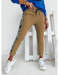 Дамски панталон в  кафяво - код 3062