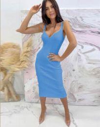 Елегантна дамска рокля в синьо - код 10033