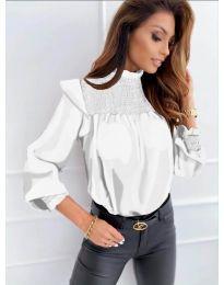 Дамска блуза в бяло - код 6202