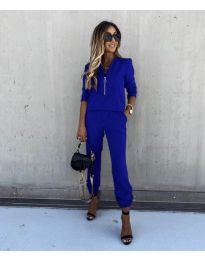 Дамски комплект в синьо - код 3349