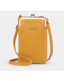 Дамска чанта в цвят горчица - код B145