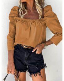 Дамска блуза в кафяво - код 9906