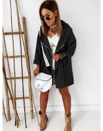 Свободно дамско яке в черно - код 8686
