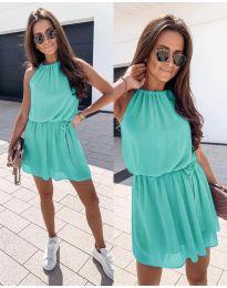 Ефирна дамска рокля в цвят мента - код 513