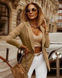 Дамско сако в цвят капучино - код 2365