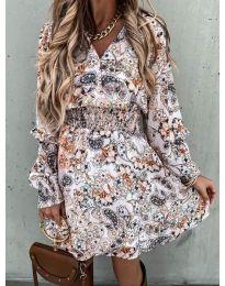Дамска рокля с атрактивни мотиви - код 7712 - 1