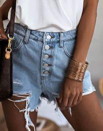 Дънкови панталонки в светлосиньо - код 4308