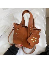 Дамска чанта в цвят кафяво - код B502