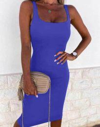 Елегантна рокля в цвят нави - код 8899