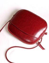 Изчистена дамска чанта в бордо - код B340