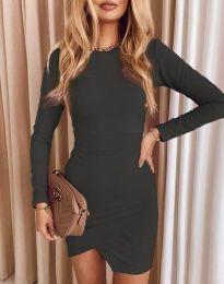 Стилна дамска рокля в черно - код 2835