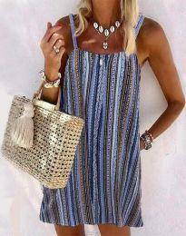 Къса рокля с атрактивен десен - код 0093 - 2