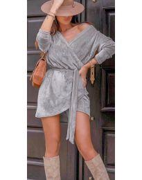 Дамска рокля в сиво - код 238