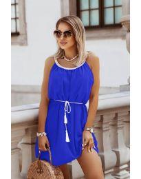 Изчистена рокля в тъмно синьо - код 8800