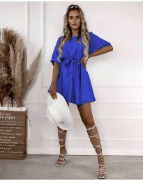 Атрактивна дамска рокля в синьо - код 13131