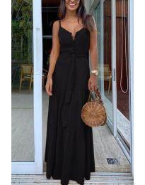 Дълга дамска рокля в черно - код 2050